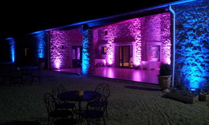 Animation soir e mariage et decoration architecturale for Decoration exterieur led